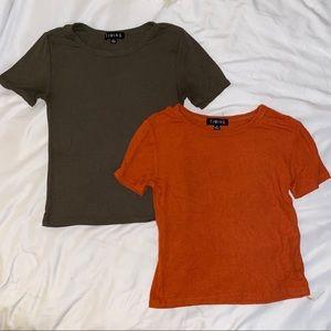Lot of 2 t shirt crop tops
